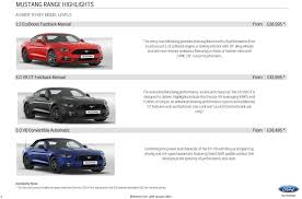 5 0 ford mustang for sale ford mustang officially on sale in the uk starts from 28 995