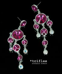 12 collection of fuschia chandelier