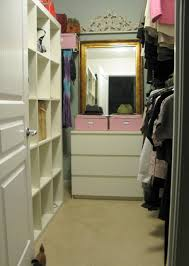 bedroom stylish eclectic closet plan near clear shelving along