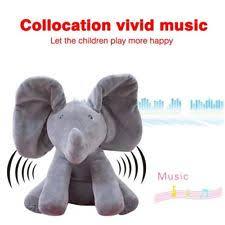 peek a boo animated talking and singing plush elephant stuffed
