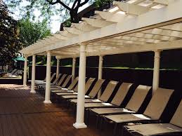 Pool With Pergola by Pergolas And Pergola Kits With Round Tapered Columns