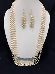 white pearl beaded necklace images Ravishing white pearl beads multi layer mala necklace jpg