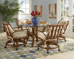 chair rattan and wicker dining room furniture sets tables oak