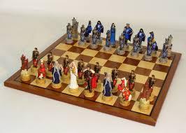 Chess Set King Arthur Sapele Maple Chess Set