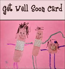 get well soon for children kid made get well card artsy momma