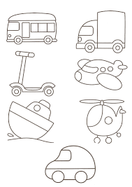 bus color page transportation coloring pages color plate