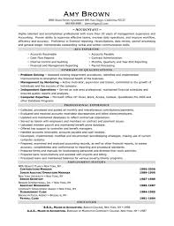 Sample Senior Management Resume Manager Resume Template With Staff Accountant Accomplishments