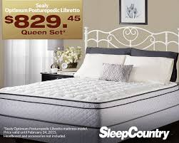 Sleep Country Bed Frame I This Sealy Optimum Posturepedic Libretto Mattress From Sleep