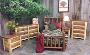 Cedar Log Bedroom Furniture by Rustic Log Bedroom Set Cottage Collection Bedroom Furniture