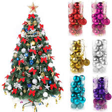 4cm 24pcs christmas balls baubles xmas tree hanging ornament xmas