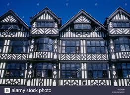 half timbered tudor buildings chester england stock photo royalty