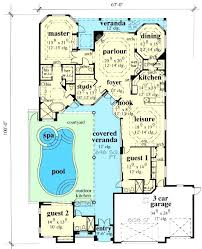 mediterranean floor plans with courtyard house plans indoor pool courtyard home designs with courtyard pool