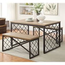 dining table sets with bench hayneedle