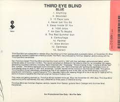 Third Eye Blind San Francisco Third Eye Blind Blue Us Promo Cd Album Cdlp 149613