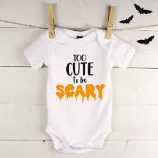 Scary Halloween Animals by Too Cute To Be Scary Halloween Babygrow By Lovetree Design