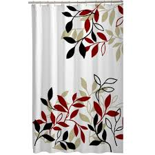 Curtains At Ross Stores by Amazon Com Maytex Satori Fabric Shower Curtain Red Home U0026 Kitchen