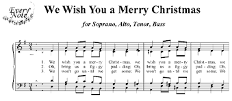 we wish you a merry choral sheet