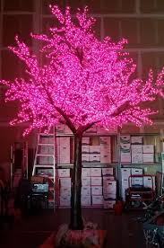 led tree artificial pre lit led cherry blossom tree 15 ft 5940 lights