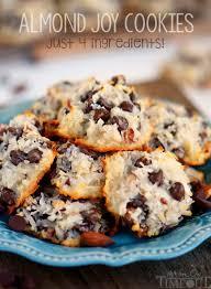 almond joy cookies just 4 ingredients mom on timeout