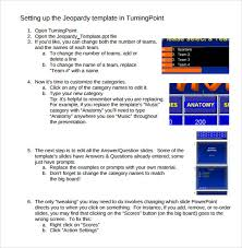 sample classroom jeopardy template 7 free documents in pdf ppt