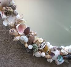 home decor beach decor seashell mirror nautical decor shell mirror w