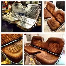 custom bench 60 40 hand made seat co jamey jordan metal