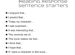 reading response ms young u0027s classroom