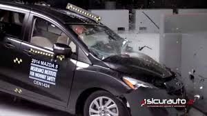 small mazda crash test iihs small overlap mazda 5 youtube