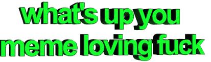 Meme Loving Fuck - what s up you meme loving fuck gifs on gifer