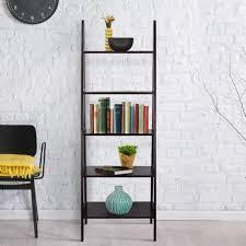 Narrow Leaning Bookcase by Bookshelf Inspiring Leaning Book Shelf Leaning Ladder Bookshelf