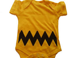 Charlie Brown Infant Halloween Costume Charlie Brown Baby Etsy