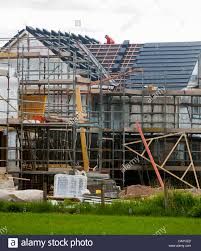 new house building montrose scotland britain stock photo royalty