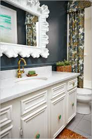 Navy Blue And White Bathroom by Bathroom Favorite Paint Colors Blog