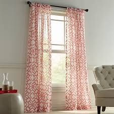 Sheer Coral Curtains To Continue With The Coral Theme I Went With This Pattern To