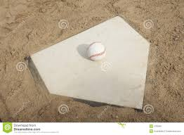 Home Plate by Home Plate With Glove And Baseball Royalty Free Stock Photo
