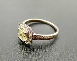 yellow diamond engagement ring etsy