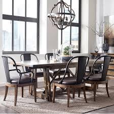pulaski dining room furniture pulaski furniture weston loft 7 piece trestle table and metal chair
