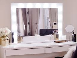 Makeup Table Wonderful Dressing Table With Lights Around Mirror 43 On Online