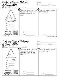 surface area and volume of cylinders homework geometry