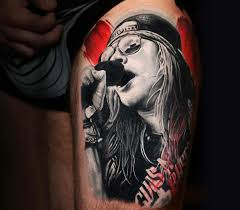 axl rose tattoo by michael cloutier detail photo no 20035