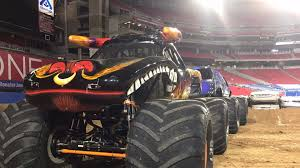 monster truck show hamilton car crushing monster jam takes over university of phoenix stadium