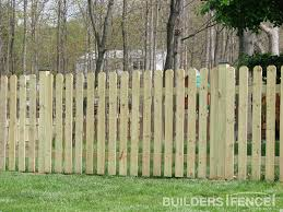 4 u0027 cedar dog ear picket fence for sides facing in projects