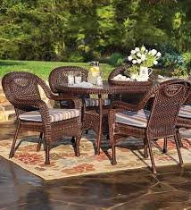 powder coated aluminum outdoor dining table prospect hill weather resistant outdoor resin wicker oval dining