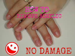 how to remove acrylic nails with no damage youtube