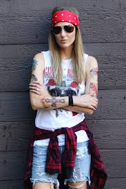 Slash Halloween Costumes Axl Rose Costume Red Bandana Aviators Tank U0026 Tattoos 70s