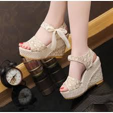 ribbon wedges shoes wedges