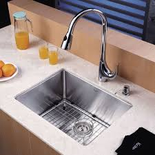 Stainless Steel Kitchen Sinks Undermount Reviews Kraus Khu101 23 Stainless Steel 23 Single Basin 16