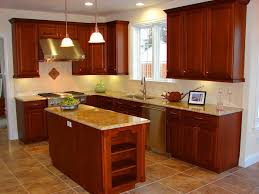 White Wood Kitchen Cabinets Under Rectangular Flush Mount Ceiling Light White Cabinet Front Of