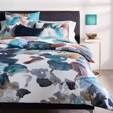 Duvet Cover Teal Tencel Artist U0027s Palette Duvet Cover Shams West Elm