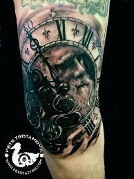 clock tattoo on hand father time custom tattoos pinterest father tattoo and